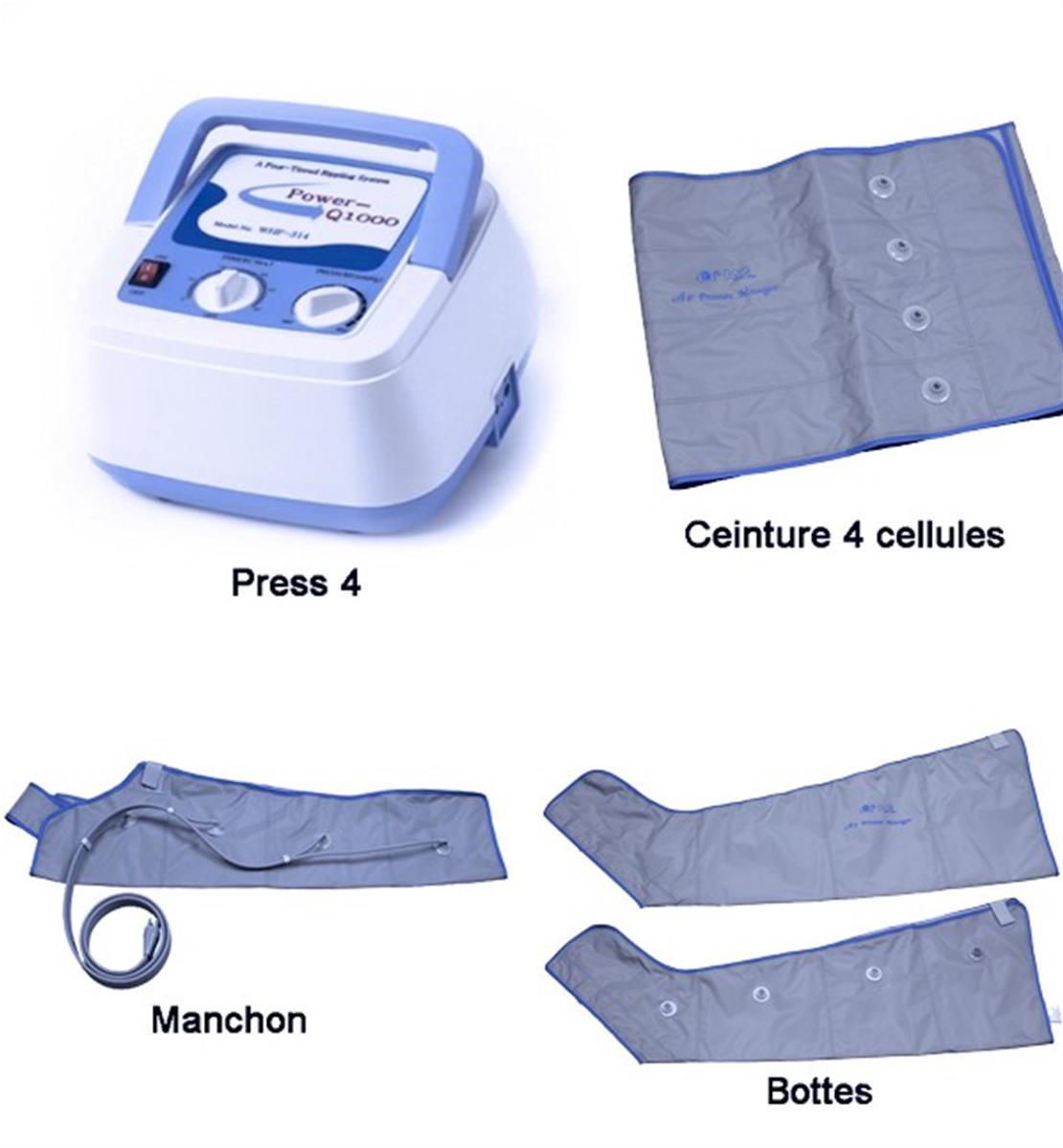 Appareil Pressotherapie +bottes +ceinture +manchon+ ...
